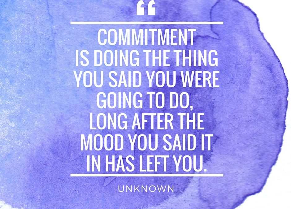 What would you commit to?