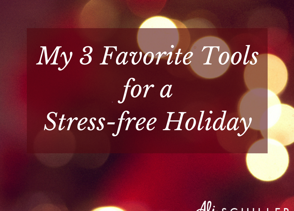 My 3 Favorite Tools for a Stress-Free Holiday